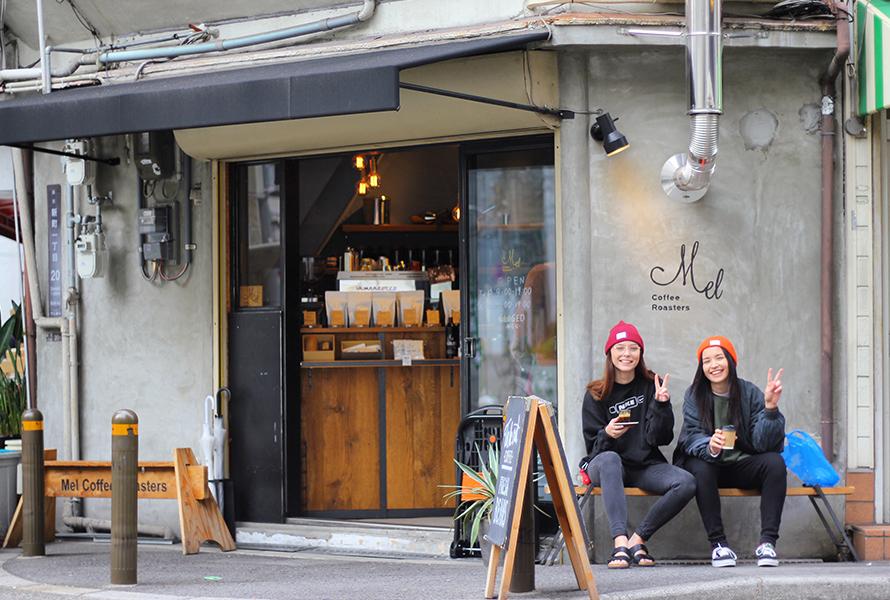 MelCoffeeRoastersでのコーヒーの焙煎風景